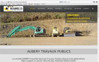 Aubery Travaux Publics - Nouveau site web